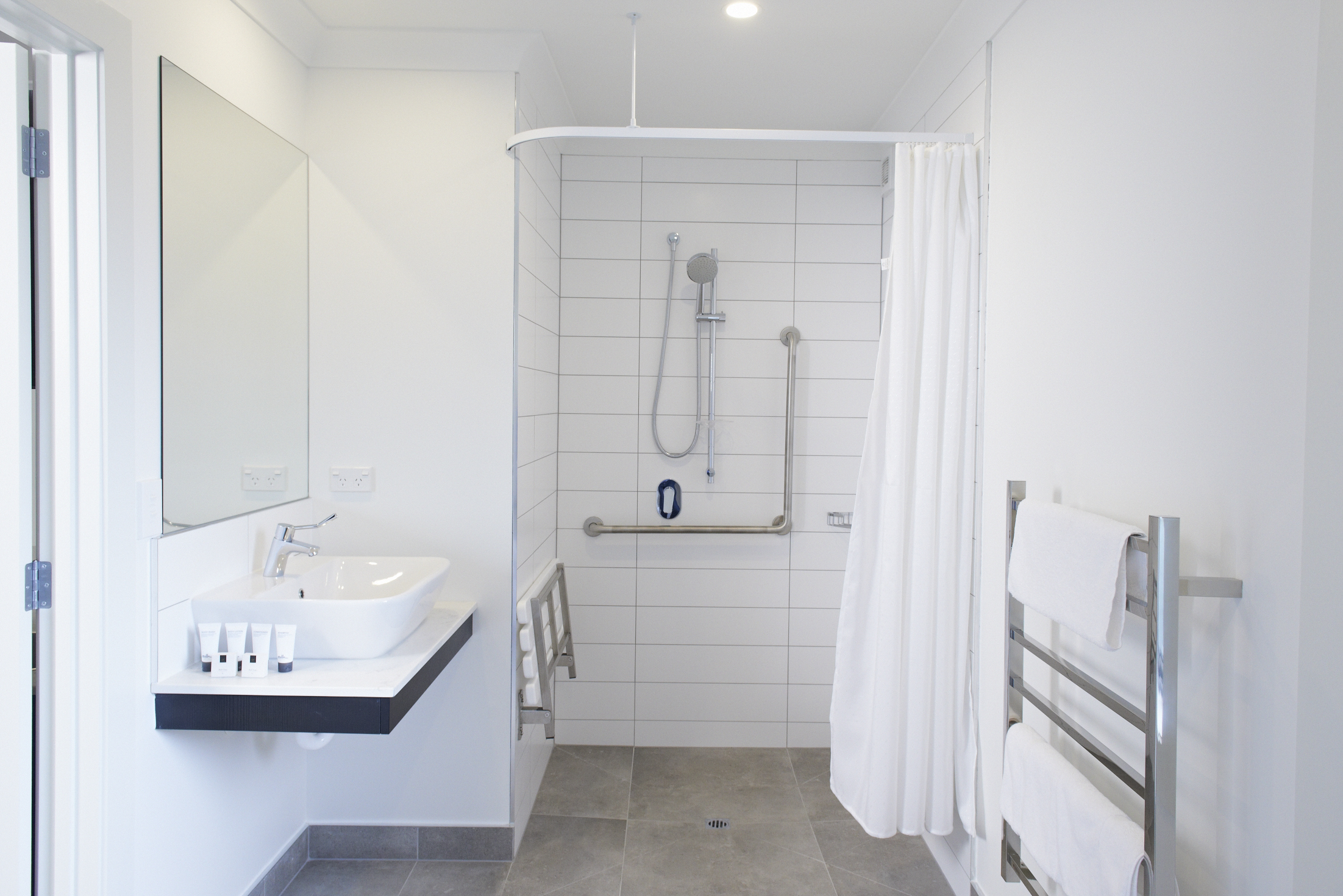 Clean. modern bathrooms